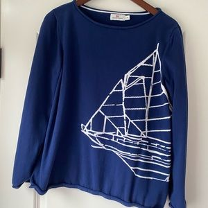 Vineyard Vines cotton sweater with sailboat detail